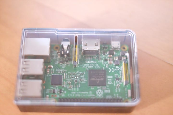 Rapberry Pi 3 inside a case