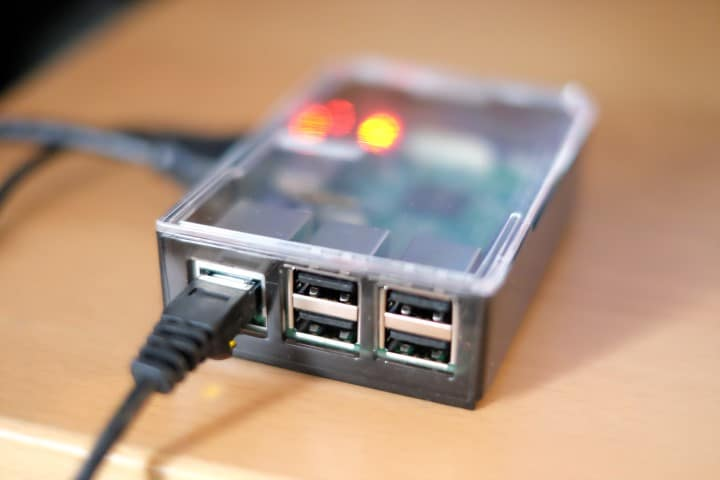 raspberry pi 3 ethernet connected